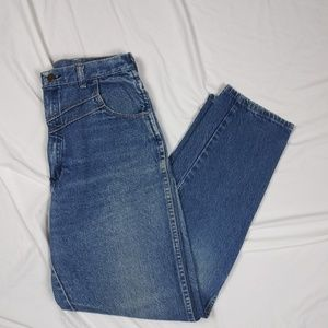 Vtg Womens Wrangler Junior Western Tapered Jeans